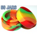 50 Silicone Non stick Container Jar Vial for Concentrate Wax Oil - POP